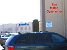Pump It Up and San Mateo Gymnastics, across the street from each other