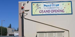 Pump It Up Grand Opening, new to area