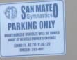 SAN M,ATEO PARKING ONLY sign